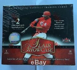 2006 Fleer Flair Showcase Baseball Hobby Box Scellé En Usine