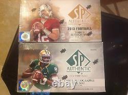 2012 Et 2013 Upper Deck S. P. Authentic F.b Hobby Boxes Lot