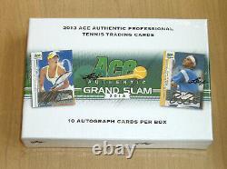 2013 Leaf Ace Authentic Grand Slam Tennis Sealed Box Roger Federer Nadal Auto