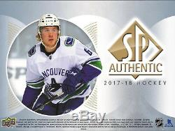 2017-18 Upper Deck Sp Hockey Authentique Hobby Box Newithsealed