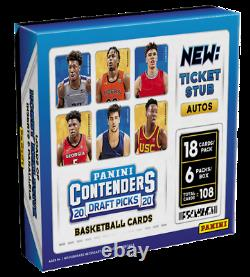 2020/21 Panini Contenders Draft Picks Basketball Factory Sealed Hobby Box