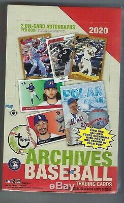 2020 Archives Baseball Hobby Topps Box