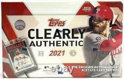 2021 Topps Clairement Authentique Usine De Baseball Scellé Hobby Box