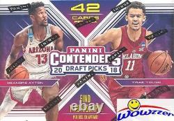 (5) 2018/19 Panini Contenders Choix Au Repêchage De Basket-ball Blaster Box-5 Autographes