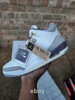 A Ma Maniere X Nike Air Jordan Retro 3 Taille 11,5w 10m 100% Authentique Nouveau Dans La Boîte