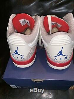 Air Jordan Retro 3 Hommes Taille 10 136064 140 Nouveautés Livraison Gratuite Box Authentique