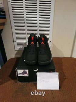 Air Jordan Retro 6 Taille Noire/infrarouge 9, Flambant Neuf Dans La Boîte 100% Authentique 2014