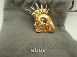 Alexander Mcqueen Large Punk Skull Ring Sz15 L Boxed Perfect Gift & Authentic