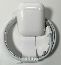 Apple Airpod 2ème Génération Sans Fil Et Charge De Cas Authentique Oem Nouveau No Box