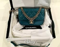 Authentic Chanel, Nouveau, Sac En Flap, En Boîte+camellia+ribbon+shopping Sac+card+rece