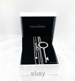 Authentic Pandora 925 Silver Regal Pattern Key Pendentif Collier 397676 +boîte Cadeau