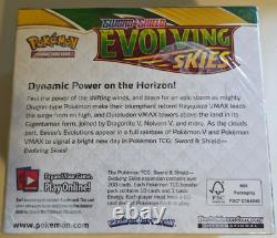 Authentic Pokemon Tcg Sword & Shield Evolving Skies Booster Box Factory Scelled