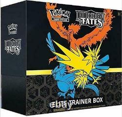 Authentic Sm Hidden Fates Sealed Elite Trainer Box (cartes Pokemon Officielles)