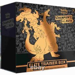 Authentic Swsh Champions Path Sealed Elite Trainer Box (cartes Pokemon Officielles)