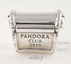 Authentique 2019 Pandora Club Argent / Rose / Diamant Treasure Box Charm B801112 W Box