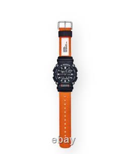 Authentique Casio G-shock Ana-digi Orange Black Nylon Strap Watch Ga900c-1a4