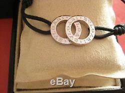 Authentique Designer New Bulgari Fortuna Bracelet En Argent Sterling Avec La Boîte + Réception