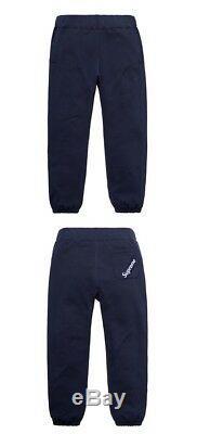 Authentique Étiquette Suprême D'angle Sweatpant Navy Taille XL Xlarge Tn-o Prêt À L'expédition