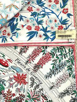 Authentique Foulard Hermès Fleurs De Giverny 90 Flambant Neuf Dans La Boîte
