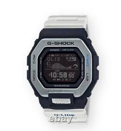Authentique G-shock Casio G-lide Step Tracker Tide Graphique Blanc Hommes Montre Gbx100-7