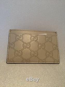 Authentique Gucci Ivoire Carte Wallet Neuf Avec Des Étiquettes, Dans Gucci Boîte-cadeau