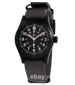Authentique Hamilton Khaki Field Mechnical Nato Gray Black Montres Pour Hommes H69409930
