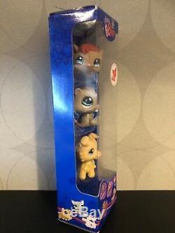 Authentique Littlest Pet Shop Nouveau Dans # 1192 1193 1194 Chien Blond Collie Nib Pni