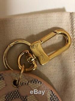 Authentique Louis Vuitton Damier Azur Tahitienne Sac Charm Porte-clés Nouveau Dans La Boîte