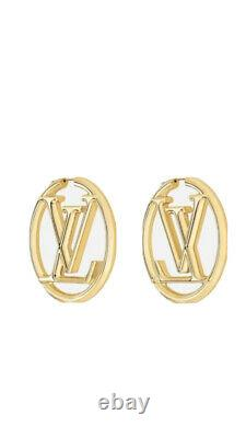 Authentique Louis Vuitton Hoop Boucles D'oreilles Vient Dans La Boîte Originale Avec Des Balises Flambant Neuf
