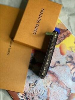 Authentique Louis Vuitton Key Pouch / Coin Purse Monogram Avec Reçu Dustbag Box
