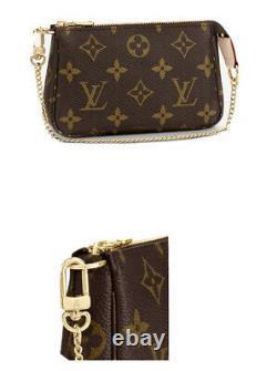 Authentique Louis Vuitton Mini Pouchette Accessoires Monogramme Flambant Neuf Avec Boîte