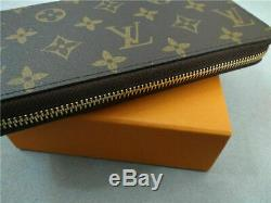 Authentique Monogramme De Louis Vuitton Zippy Wallet Bifold Withbox