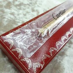 Authentique Must Vintage De Cartier Bille Godron Plaqué Or Withbox (new Sealed)