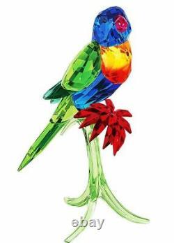 Authentique Nouveau Dans La Boîte 629 $ Swarovski Arc-en-loriquet Oiseau Perroquet # 5136832