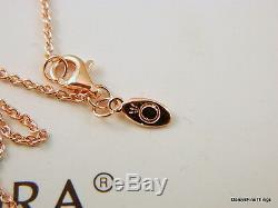 Authentique Nwt Pandora Collier Coeurs Rose De Pandora # 580515cz-45 Hinged Box