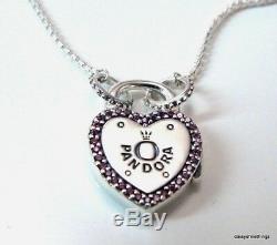 Authentique Pandora Collier De Verrouillage Votre Promesse # 396583fpc-60 Boîte Charnière