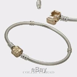Authentique Pandora Et Pandora 14k Bracelet Avec Verrouillage Box 7.1 590702hg-18
