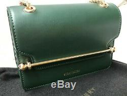 Authentique Strathberry East West Convertible Sac À Bandoulière Green Nwt & Boîte Moyenne
