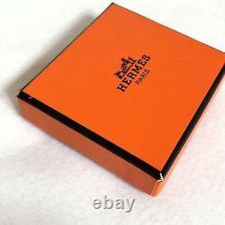 Authentique Très Belle Écharpe Hermes Bague Crochet Or Plaqué Avec Boîte