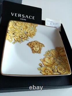 Authentique Versace Medusa Rhapsody Place Bowl Plate Plateau Cendrier Nouveau Dans La Boîte