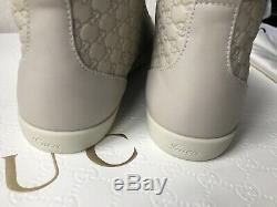 Authentiques Gucci Guccissima Femmes Chaussures En Cuir Blanc Mystique Ue 39 Nouveau Box