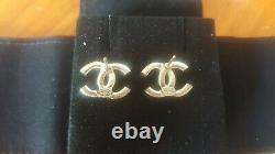 Boucles D'oreilles Chanel Crystal Stud 2019 19a Collection Authentic Brand New In Box CC