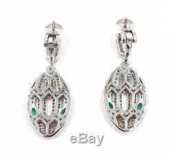 Bulgari Bvlgari Serpenti Diamant Or Blanc 18 Carats Boucles D'oreilles Boîte Papiers Ret 29000 $