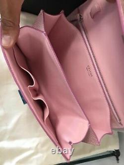 Celine Classic Box Bag Medium Lizard Exotic Lether Authentic 100% Sac À Main