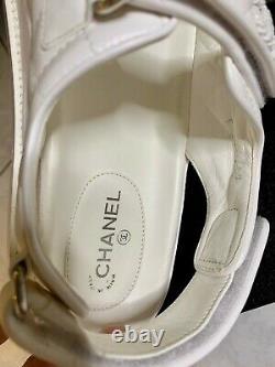Chanel Leather Dad Sandals Taille Eu38 Nouveau Avec Boîte. 100% Authentique