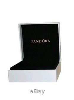 Charme Authentique Pandora Bracelet En Argent Rose Coeur D'amour Avec Charms