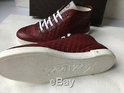 Chaussures De Sport En Cuir Authentique De Gucci Guccissima Femmes Rouge Eu 39 New Box