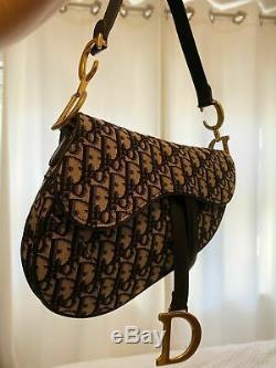 Christian Dior Oblique Sacoche De Selle De Mode Pour Femmes Authentique Avec La Boîte