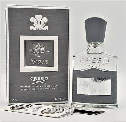 Creed Aventus Cologne 50ml / 1.7oz Boat 20d01 Nouveau Dans La Boîte Navires Authentiques Fast