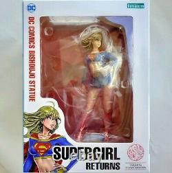 DC Comics Supergirl Retourne Bishoujo 1/7 Statue Par Kotobukiya Nib Authentic
